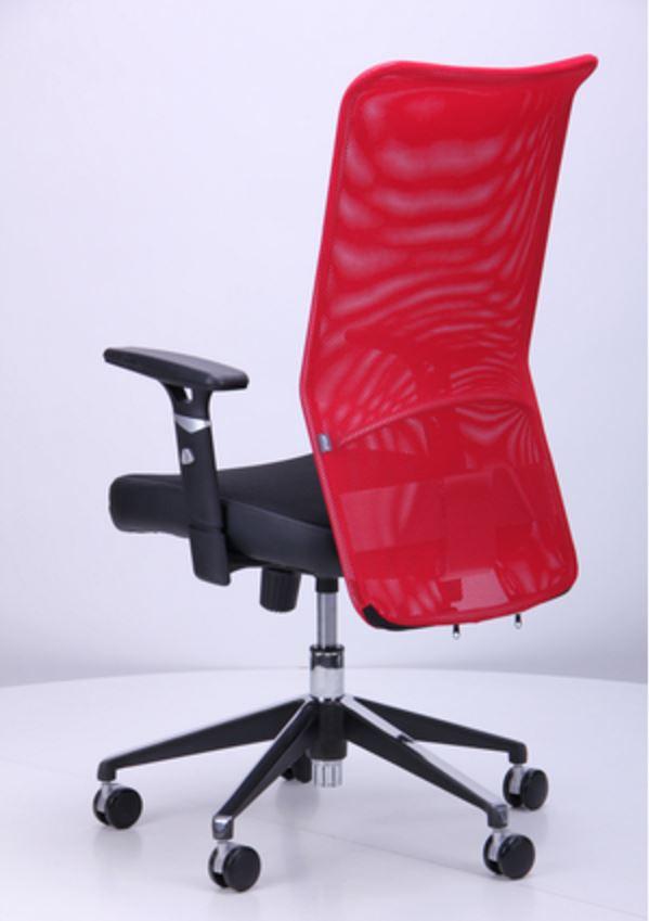 Кресло Аэро Люкс сиденье Сетка черная, Неаполь N-20/спинка Сетка красная (фото 8)