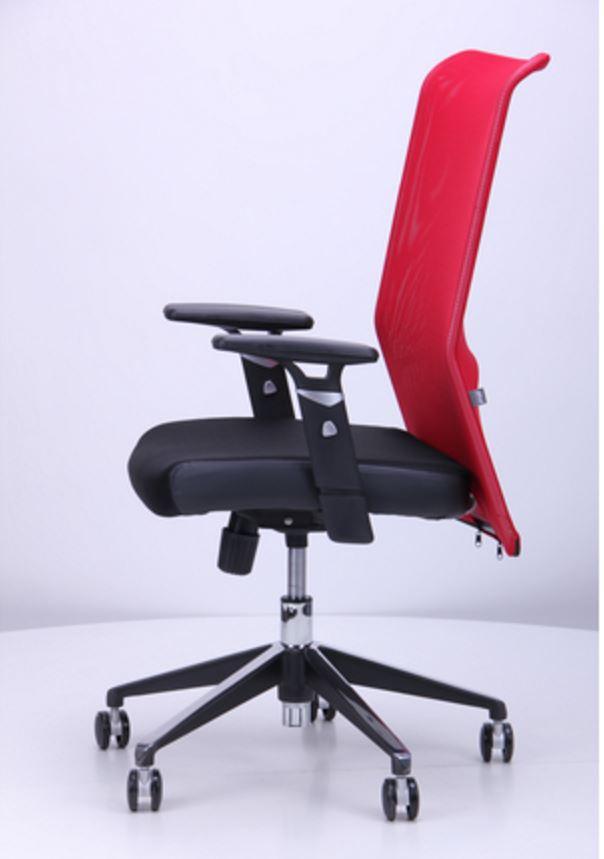 Кресло Аэро Люкс сиденье Сетка черная, Неаполь N-20/спинка Сетка красная (фото 9)