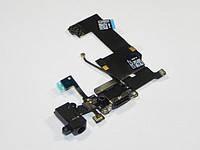 Шлейф для iPhone 5C. с разъмом зарядки. коннектором наушников и микрофоном. чрный. оригинал (Китай