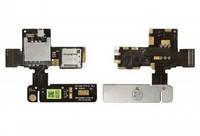 Разъем SIM-карты и карты памяти для HTC T528d One SC. на шлейфе. на две SIM-карты