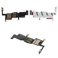 Разъем SIM-карты и карты памяти для Huawei W2 Ascend на шлейфе