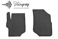Коврики резиновые авто Ситроен Ситроен Си-Элизе  2013- Комплект из 2-х ковриков Черный в салон