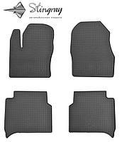 Коврики резиновые авто Форд Транзит коннект 2014- Комплект из 4-х ковриков Черный в салон. Доставка по всей Украине. Оплата при получении