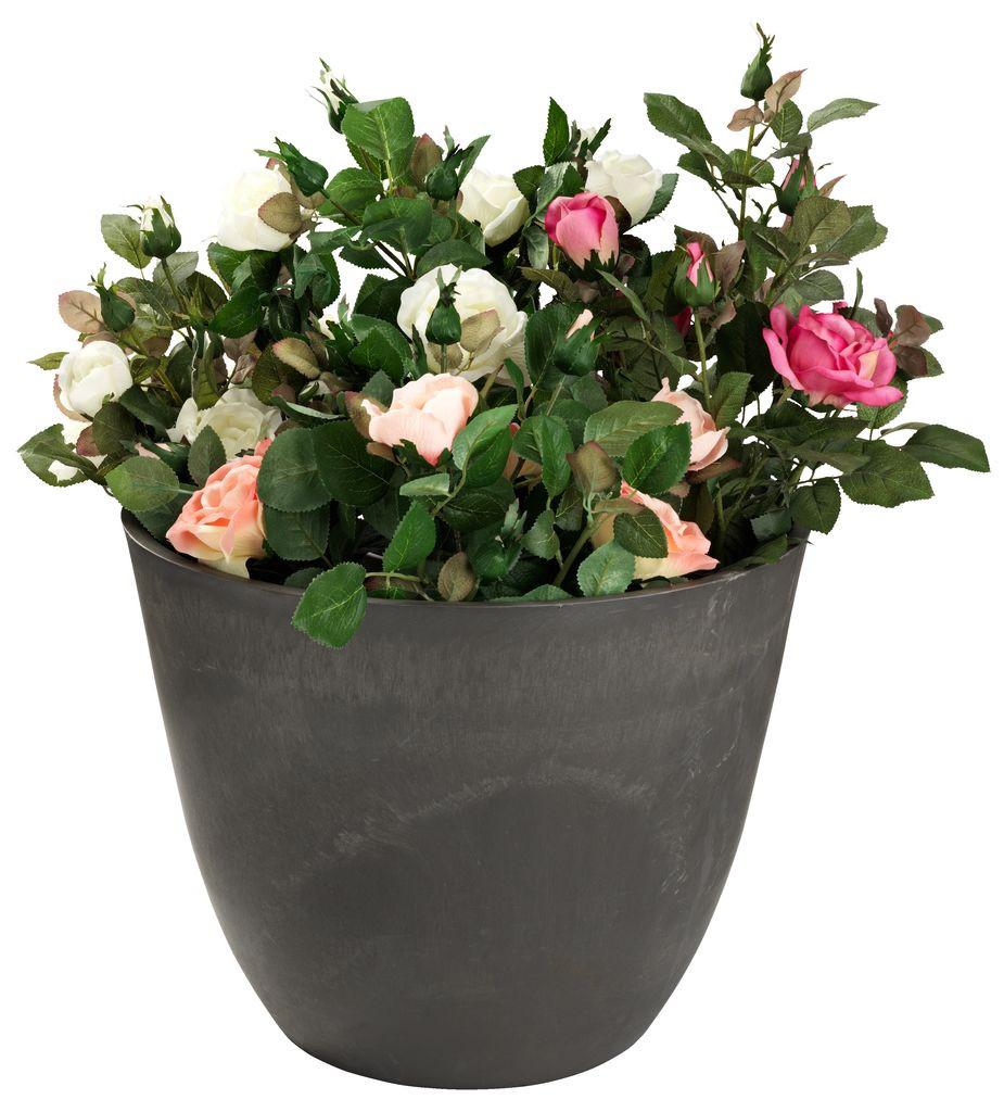 """Кашпо (круглый горшок) для цветов """"FLY"""" диаметр 51 см Полистоун"""