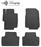 Коврики резиновые авто Хонда Аккорд 2003-2008 Комплект из 4-х ковриков Черный в салон. Доставка по всей Украине. Оплата при получении