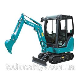 SK16 Транспортный вес 1,515 кг / 1,635 кг Мощность двигателя 12.1kW / 2,600rpm (ISO9249) Объем ковша 0,05 м3