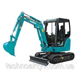 SK22 Транспортный вес 2,045kg - 2,185 кг Мощность двигателя 13.4kW / 2,200rpm (ISO9249) Объем ковша 0,05 м3