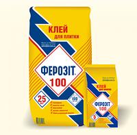 Клей для плитки Ферозит 100, 25кг (для внутренних и наружных работ)