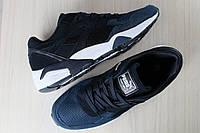 Мужские кроссовки, замшевые, синие, с черными вставками, на шнурках PUMA