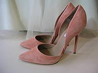 Туфли лодочки замшевые персикового цвета STEVE MADDEN