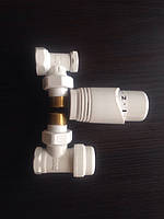 Комплект  радиаторный угловой (дизайнерский, белый).