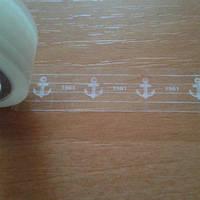 Декоративный прозрачный скотч 15 мм х 10 м, Якорь