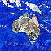 Сувенирная карта мира из полудрагоценных камней в золотистой раме 870*630 мм, фото 4