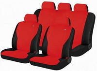 Чехлы сидения Hadar Rosen  PASS красный\черный 10911 полный к-т (Ткань-Эластик)