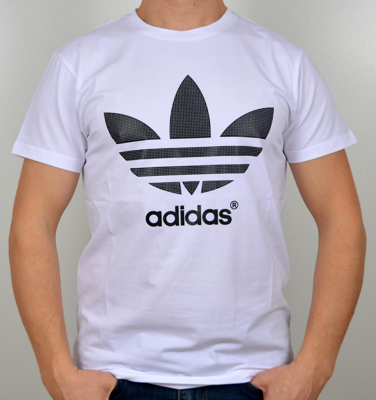 "Мужская футболка ""Adidas"" белый"