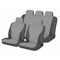 Чехлы сидения Hadar Rosen  Pass  Светло-серый темно-серый 10910 полный к-т (Ткань-Эластик)