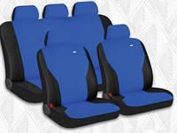 Чехлы сидения Hadar Rosen  Pass Синий\черный 10912 полный к-т (Ткань-Эластик)
