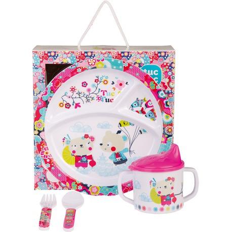 Набор детской посуды для девочки KIMONO TUC TUC