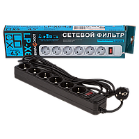 Сетевой фильтр  LogicPower LP-X6, 6 розеток, 4,5м