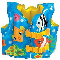 Жилет детский надувной INTEX  C рыбками 59661