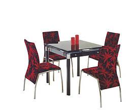 Стол обеденный стеклянный KENT черный Halmar
