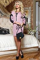 Женское розовое платье-туника из ангоры 2071 Seventeen 42-48 размеры