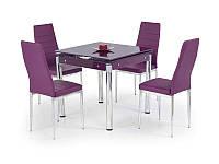 Стол обеденный стеклянный KENT фиолетовый Halmar