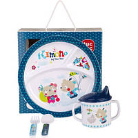 Набор детской посуды для мальчика KIMONO TUC TUC