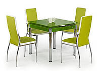 Стол обеденный стеклянный KENT зеленый Halmar