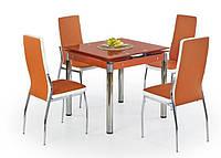 Стол обеденный стеклянный KENT оранжевый Halmar