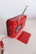 Портативная мини колонка SPS WS 958  радиоприемник ФМ, фото 3