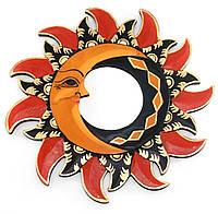 Зеркало настенное круглое Солнце и луна