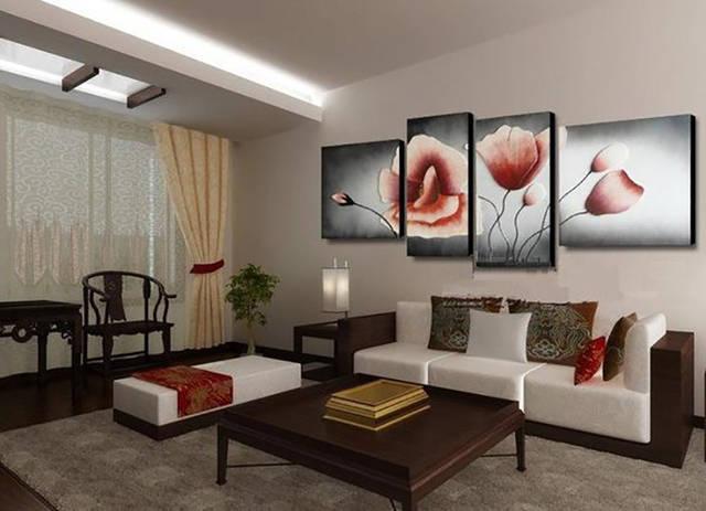 Модульная картина в гостиной. Печать на натуральном холсте
