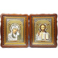 Икона Венчальная пара Б.М. Казанская и Спаситель Софрино 25*32,5*4см