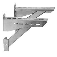 Кронштейн 400 мм для подставки настенной, разгрузочной платформы дымохода «Версия Люкс»
