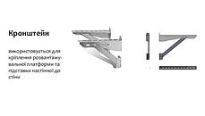 Кронштейн 400 мм для подставки настенной, разгрузочной платформы дымохода «Версия Люкс», фото 2