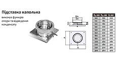 Подставка напольная для дымохода 100 мм из нержавеющей стали «Версия Люкс», фото 2