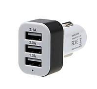 Автомобильное зарядное устройство в прикуриватель 3 USB HL061503, фото 1