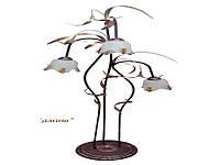 Торшер кованный Камыш на 3 лампы
