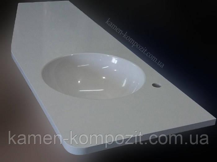 """Столешница в ванную из искусственного камня """"Мона"""", фото 1"""