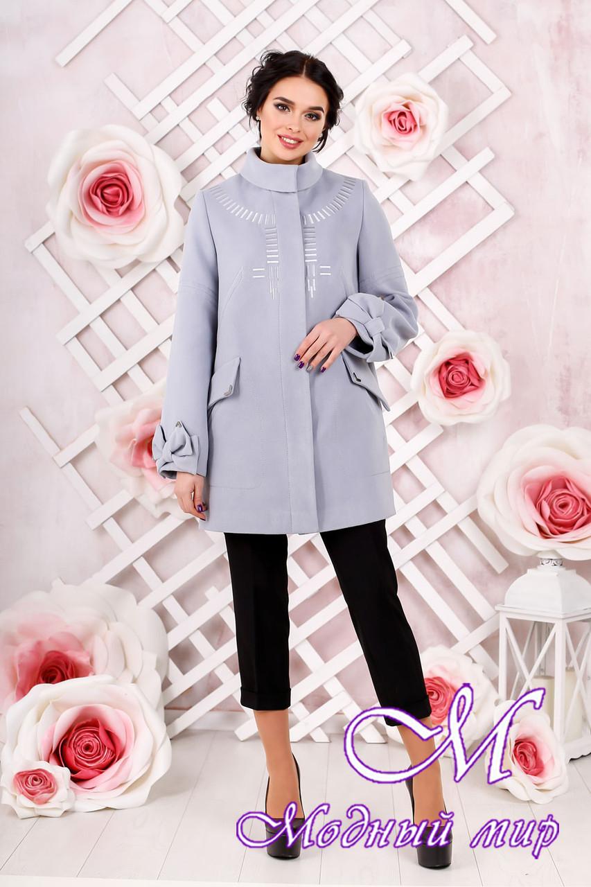 Женское кашемировое пальто светлого цвета  (р. 44-54) арт. 974 Тон 14