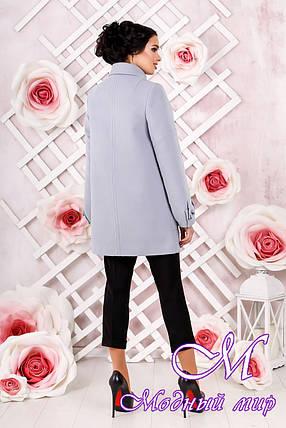 Женское кашемировое пальто светлого цвета  (р. 44-54) арт. 974 Тон 14, фото 2