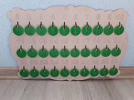 Номерки для ключей с ключницей (комплект)