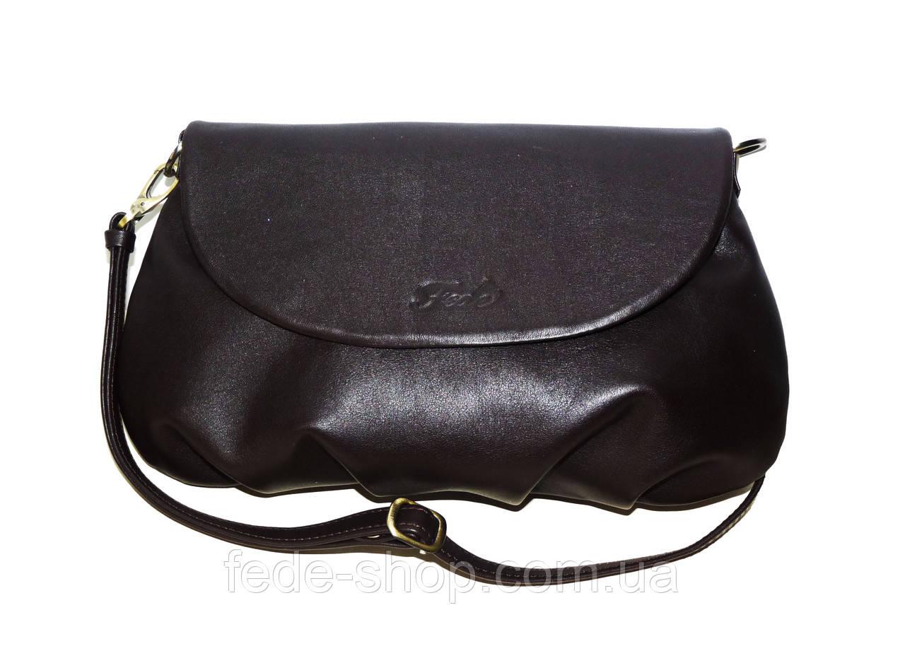 f0944fb31340 Маленькая кожаная сумка через плечо коричневая: продажа, цена в ...