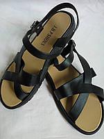 Летние силиконовые босоножки сандалии Цвет черный размер 36