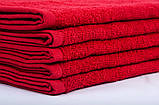 Полотенце махровое 40х70см Красный 420гр Lotus, фото 3