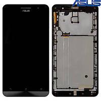 Дисплейный модуль (дисплей + сенсор) Asus ZenFone 6 A600CG / A601CG, с передней панелью, оригинал
