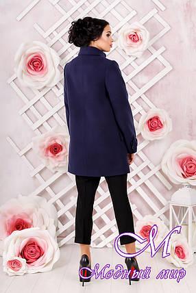 Женское кашемировое пальто темно-синего цвета  (р. 44-54) арт. 974 Тон 354, фото 2