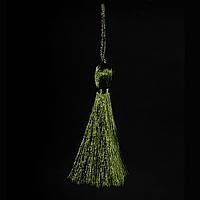 Кисточка подвеска из метал. нити-хаки 15 см