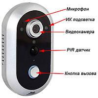 Беспроводной видеоглазок со звонком и записью видео PoliceCam 216WIFI
